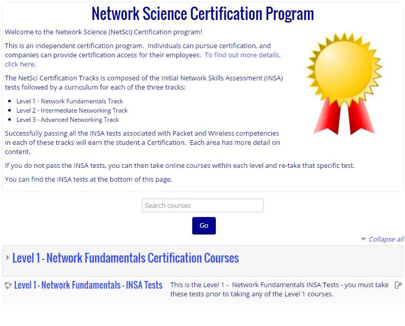 Network Science Certification Program Information The Network